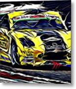 Emily Linscott On The Racetrack - Ginetta Junior Championship Metal Print