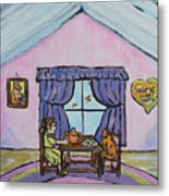 Emily's Tea Party Metal Print