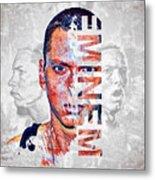 Eminem Portrait Metal Print