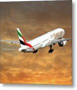 Emirates Boeing 777-36n 2 Metal Print