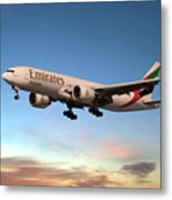 Emirates Boeing 777f A6-efm Metal Print