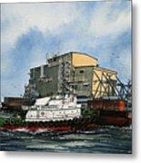 Emma Foss Barge Assist Metal Print