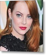 Emma Stone Wearing Fred Leighton Metal Print by Everett