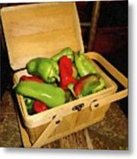 Emmy's Peppers Metal Print
