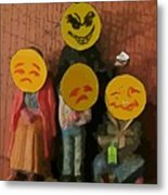 Emoji Family Victims Of Substance Abuse Metal Print