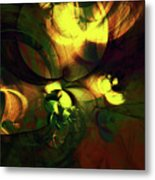 Emotion In Light Abstract Metal Print