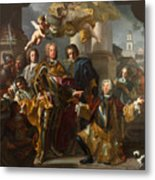 Emperor Charles Vi And Gundacker, Count Althann Metal Print