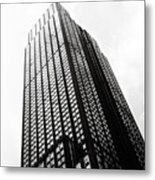 Empire State Building 1950s Bw Metal Print