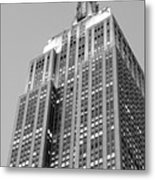 Empire State Building B W Metal Print