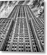 Empire State Building Black And White Metal Print by John Farnan