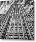 Empire State Building Black And White Square Format Metal Print by John Farnan