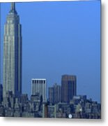 Empire State Building Dusk New York City Metal Print
