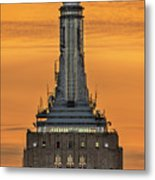 Empire State Building Esb Broadcasting Nyc Metal Print