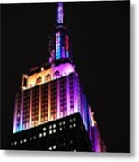 Empire State Building In Pastel Color Metal Print