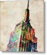 Empire State Building Metal Print by Michael Tompsett