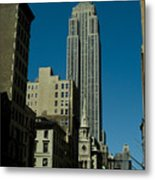 Empire State Building Seen From Street Metal Print
