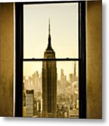 Empire State Building View Metal Print
