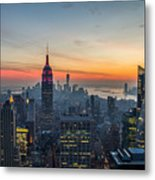 Empire State Sunset Metal Print
