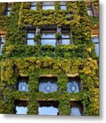 Empress Hotel Windows Metal Print