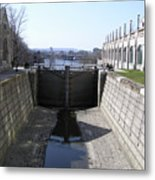 Empty Canal Lock Metal Print by Richard Mitchell
