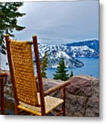 Empty Chair Metal Print by Dorota Nowak
