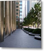 Empty Chicago Sidewalk Metal Print