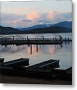 Empty Docks On Priest Lake Metal Print