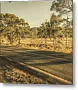 Empty Regional Australia Road Metal Print
