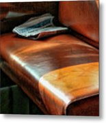 Empty Seat Train To Versailles From Paris.  Metal Print