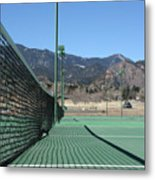 Empty Tennis Courts Metal Print