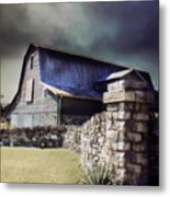 Empyrean Estate Stone Wall Metal Print