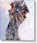Emu Twister Metal Print