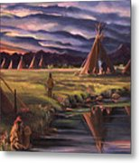 Encampment At Dusk Metal Print