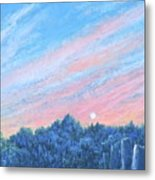 enchanced- Catching the SunSet Metal Print