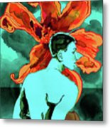Enchanted Boy With Lilies Metal Print