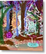 Enchanted Christmas Forest Metal Print