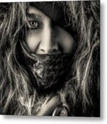 Enchanted Concept Black And White Metal Print
