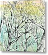 Enchanted Forest Music Metal Print
