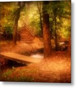 Enchanted Path - Allaire State Park Metal Print