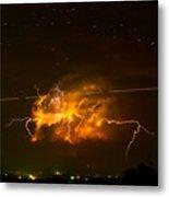Enchanted Rock Lightning Metal Print