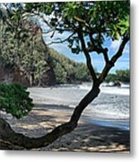 Enchanted Rocks Koki Beach Haneoo Hana Maui Hawaii Metal Print