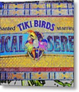 Enchanted Tiki Birds Metal Print