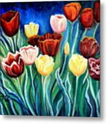 Enchanted Tulips Metal Print