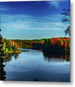 End Of The Day At The Lake Metal Print