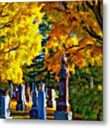 End Of The Road Impasto Metal Print