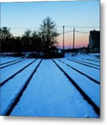 End Of The Tracks Metal Print