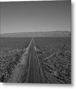 Endless Road Aerial Bw Metal Print