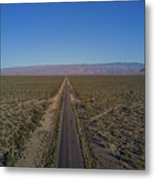 Endless Road Aerial  Metal Print
