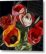 Energetic Tulips Metal Print