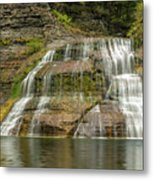 Enfield Falls Tompkins County New York Metal Print